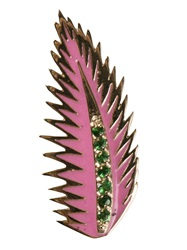 Alison Lou Palm Leaf Earring Pink And Purple