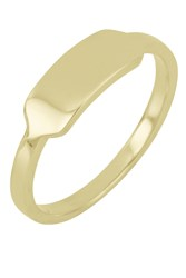 Bony Levy 14K Yellow Gold Flat Stacking Band Ring