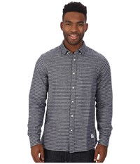 Penfield Canso Striped Brushed Flannel Long Sleeve Shirt Blue Men's Long Sleeve Button Up