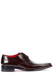 Jeffery West Harrison Dark Burgundy Leather Derby Shoes