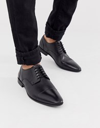 Pier One Lace Up Shoes In Black Leather