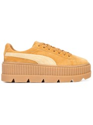 33a30a124fe Fenty X Puma Cleated Creepers Leather Suede Rubber Nude Neutrals