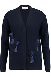 3.1 Phillip Lim Embellished Wool Blend Cardigan Blue