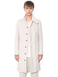 Rick Owens Drkshdw Cotton Blend Ottoman Trench Coat