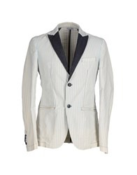 Individual Denim Suits And Jackets Blazers Men Light Grey