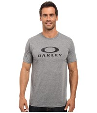 Oakley O Pinnacle Hydrolix Tee Athletic Heather Grey Men's T Shirt Gray