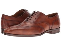 Gravati Wingtip Oxford Cognac Men's Lace Up Wing Tip Shoes Tan