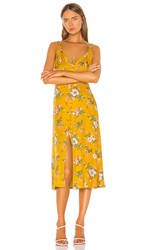 Rebecca Taylor Lita Tie Dress In Yellow. Marigold