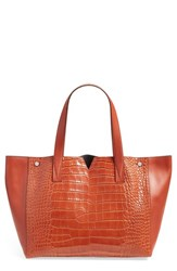 Vince 'Signature V' Croc Embossed Tote
