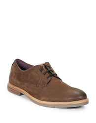 Ben Sherman Birk Suede Oxfords Brown