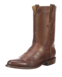 Lucchese Bannock Leather Cowboy Boots Brown