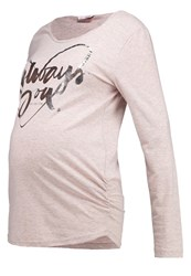 Bellybutton Joelle Long Sleeved Top Peach Whip Melange Apricot