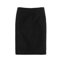 J.Crew Tall No. 2 Pencil Skirt In Double Serge Wool Black