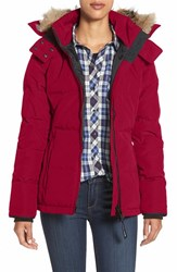 Canada Goose Women's 'Chelsea' Slim Fit Down Parka With Genuine Coyote Fur Trim Red