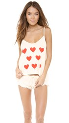 Wildfox Couture Baby Love Fall In Love Pj Set Vanilla