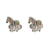 Paul Smith Multicolor Stripe Zebra Cufflinks