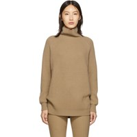Max Mara Tan Disco Turtleneck