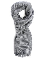 Scotch And Soda Blue Woven Linen Scarf