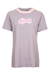 Topshop Sindy Tulle T Shirt By Tea And Cake Lilac