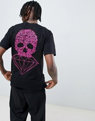 Diamond Supply Co. Fasten T Shirt With Skull Back Print In Black