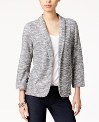 Maison Jules Marled Textured Blazer Only At Macy's Heather Grey