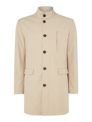 Selected Men's Homme Button Through Trench Coat Taupe