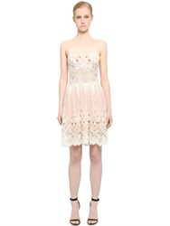 Fabiana Milazzo Embellished Strapless Lace Dress
