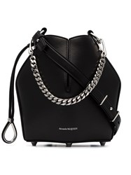 Alexander Mcqueen Shaped Crossbody Bag With Chain Black