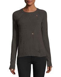 Bailey 44 Cinderella Long Sleeve Distressed Pullover Sweater Brown