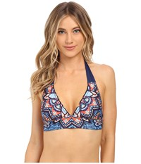Lucky Brand Layla Removable Soft Cups Halter Multi Women's Swimwear
