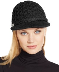 Calvin Klein Honeycomb Cable Newsboy Hat Black