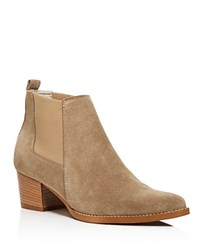 Kenneth Cole Russie Suede Chelsea Booties 100 Bloomingdale's Exclusive Taupe