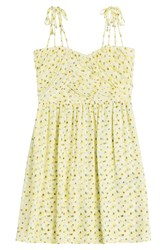 The Kooples Printed Dress Yellow