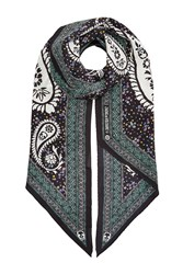 Zadig And Voltaire Silk Paisley Print Scarf Multicolor