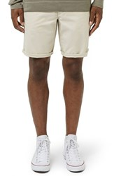 Topman Men's Chino Shorts Stone