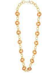 Kenneth Jay Lane Knotted Chain Necklace Gold