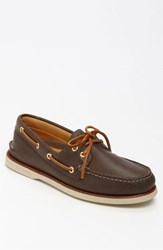 Sperry Men's 'Gold Cup Authentic Original' Boat Shoe Dark Brown Leather