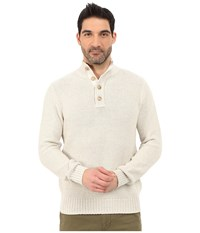 Lucky Brand Washed Out Mock Neck Marshmallow Men's Sweater Blue
