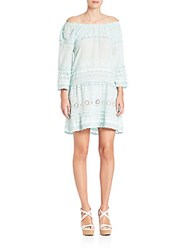 Calypso St. Barth Junomia Off The Shoulder Eyelet Dress White