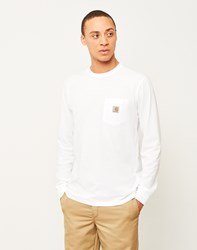 Carhartt Wip Long Sleeve Pocket T Shirt White