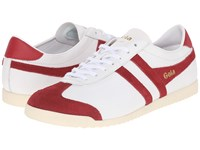 Gola Bullet Leather White Deep Red Men's Shoes