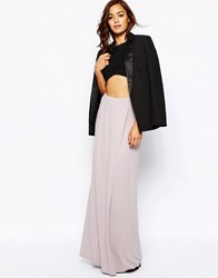 Asos Maxi Skirt With Front Layer Panel Mink Pink