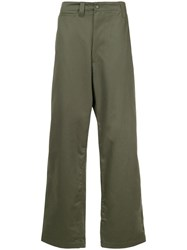 E. Tautz Loose Fit Tailored Trousers Green