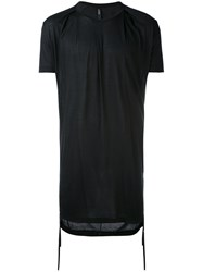 Tom Rebl Long Classic T Shirt Men Viscose M Black