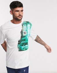 River Island T Shirt With City Print In White