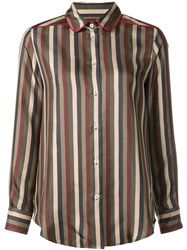 For Restless Sleepers 'Leda' Striped Shirt Green