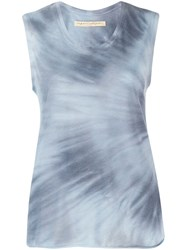 Raquel Allegra Fitted Muscle Top Blue