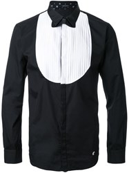 Loveless Bow Tie Print Shirt Black