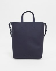 French Connection Moa Leather Tote Blue
