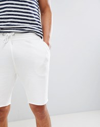 New Look Raw Edge Jersey Shorts Cream Pattern